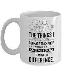 serenity prayer mug serenity prayer mug one year sober anniversary gift aa coffee