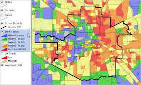 houston map districts largest 100 school districts