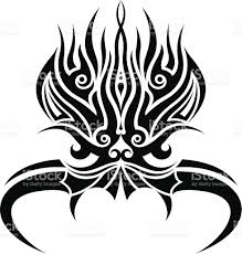 tribal demon tatoo stock vector art 166090207 istock