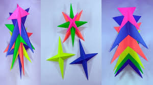 easy paper craft christmas tree from 3d paper star youtube