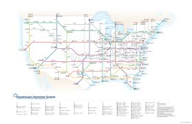 Subway Boston Map by Translating The American Interstate Highway System Into A Subway Map