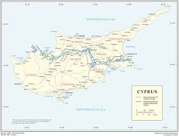 map on road road map of cyprus tourist map of cyprus maps of districts in