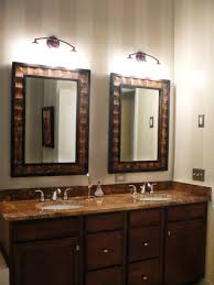 bathroom appealing black framed bathroom mirror with modern white