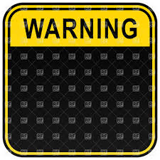 blank square warning sign template royalty free vector clip art