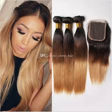 honey weave cheap honey ombre hair bundles with lace
