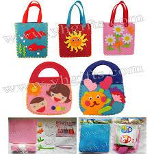 15pcs lot diy felt handbag craft kits fabric crafts children bag