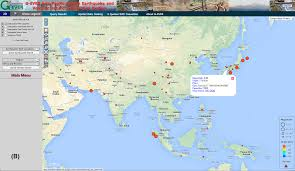 Earthquake World Map by G Ever Asia Pacific Region Earthquake And Volcanic Hazard
