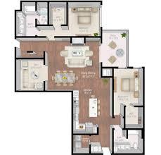 Den Floor Plan Mill U0026 Main Luxury Apartments Floor Plans