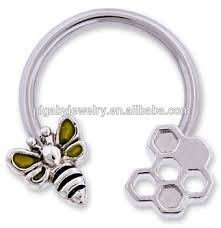 piercing rings images Laying g honeycomb and bee 316l surgical steel nipple piercing jpg
