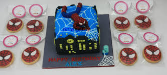 spiderman cake and cookies for 3 year old alex jocakes