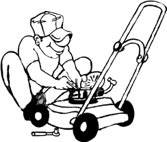 cartoon lawn mower clipart 33