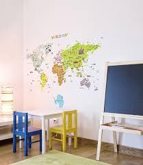 World Map Wall Decal Amazon Com Big Size World Map Removable Nursery Wall Art Decor