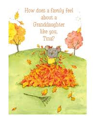 thankful for granddaughter greeting card thanksgiving printable