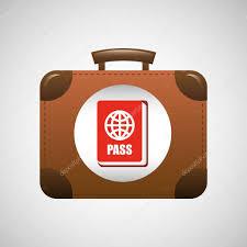 koffer design koffer vintage reisen symbolgrafik design stockvektor 129008276
