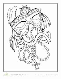 cardsadult mardi gras mardi gras coloring page mardi gras worksheets and holidays