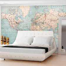 World Map Wallpaper Swag Paper Rand Mcnally 1879 World Atlas Map Self Adhesive