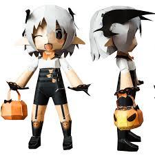 Halloween Sudoku Printable by Cute Halloween Demon Anzu With A Jack O Lantern Chibi Doll Free