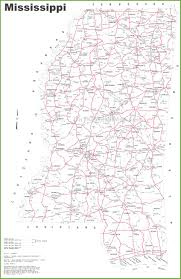 Map Of Ms Mississippi Road Map