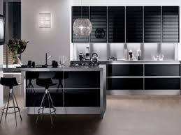 modern white and black kitchen with modern black and white kitchen