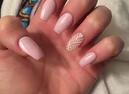 Light Pink Acrylic Nails Acrylic Nails Light Pink Shellac With Stones Design Cpgds