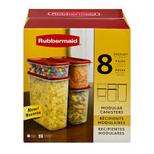 kitchen canisters walmart rubbermaid modular canisters set 8 pc 8 0 piece s walmart com