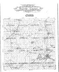 Michigan Township Map by 1908 Wexford County Map Springville Township