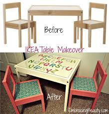 Ikea Childrens Table And Chairs by Ikea Table Makeover Ikea Hack