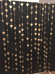 gold hearts photo booth backdrop wedding curtain ceremony