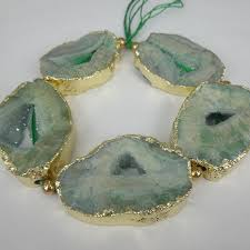 green agate necklace images 2018 1strand druzy green agate gemstone beads 65mm natural slice jpg