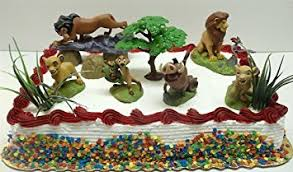 lion king cake toppers lion king birthday cake topper set featuring mufassa