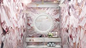 Coffee Shop Powder Room How To Design A Bright And Fun Powder Room Martha Stewart