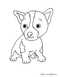 puppy coloring pages hellokids