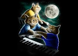 3 Wolf Moon Meme - hoboghost he s back three keyboard cat moon threadless t shirt