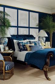 a deep navy can instantly transform your bedroom into a relaxing