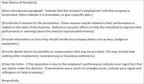 termination of business letter company services termination