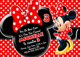 red minnie mouse birthday invitations partyexpressinvitations