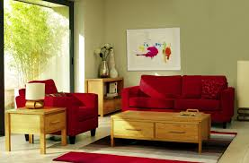 Living Room With Red Sofa by Awesome Red Sofa With Storage Table For Chic Small Living Room