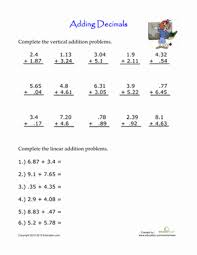 adding decimal numbers worksheet practice adding decimals worksheet education