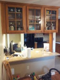 cherry cabinets gutshalls kitchens the facing bank of cabinets is installed below the opening adding additional storage the countertop is stafford brown with light colored 2 x 2 tiles and