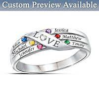 grandmothers rings sweetest personalized diamond ring bradford exchange