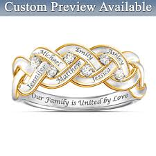 rings with names engraved best personalized rings best womens personalized birthstone