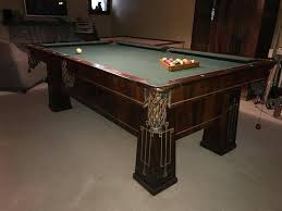 brunswick monarch pool table rare arts crafts pool table rosewood brunswick balke collender