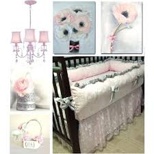 shabby chic baby bedding pink and gray baby nursery decor