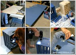 Build A Work Table How To Make A Kids Crate Table Workstation Petticoat Junktion