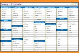 grocery list template printable free printable grocery list and