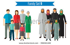 family silhouettes set free vector stock graphics
