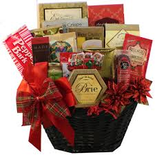 Food Gift Baskets Christmas - festive holiday gourmet gift basket