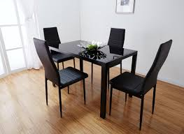 White Glass Kitchen Table by Black Glass Dining Table With 4 Chairs