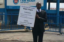 Seeking Nairobi Another Begs For With Placard After Investing Sh200k On