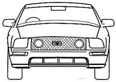 printable mustang coloring pages kids cool2bkids car